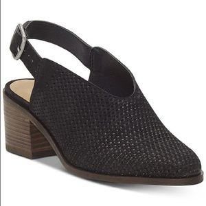 Lucky Brand NWT Lideton Leather Slingback Bootie